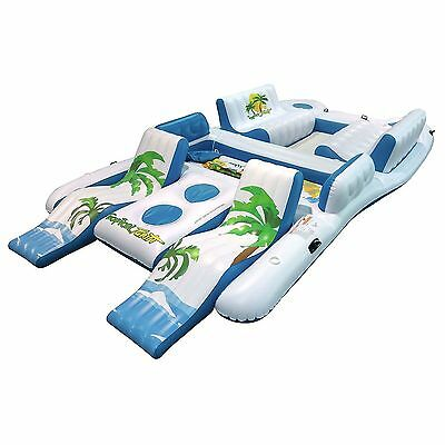NEW Tropical Tahiti 8 Person Inflatable Raft Pool Lake Ocean Floating Island Wow