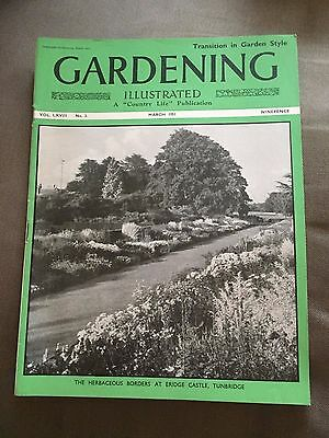 "Mar 1951 Gardening Illustrated ""transition In Garden Style"" Magazine"