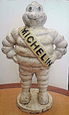 Antique Authentic Cast Iron Michelin Man Store Advertising Piece