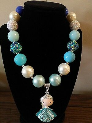 Kid's Chunky Beaded Necklace - Princess Elsa
