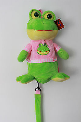 Kids Baby Girls Safety Anti-lost Harness Leash Toddler Plush Backpack Toy Frog