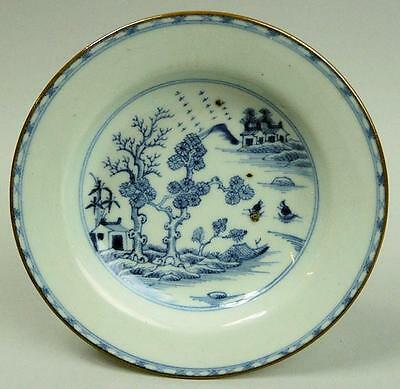 Antique Chinese Blue & White Porcelain Cabinet Plate C.1700
