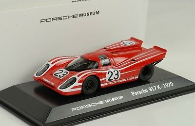 1970 Porsche 917 K 24h le Mans Winner #23 Red Museum 1:43 Map Welly