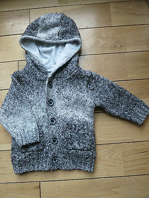 NEXT Baby Boys Knitted Hooded cardigan 3-6 months