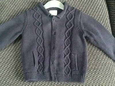 NEXT Boys Cable Knit Cardigan - **only slightly used** (9-12 months)