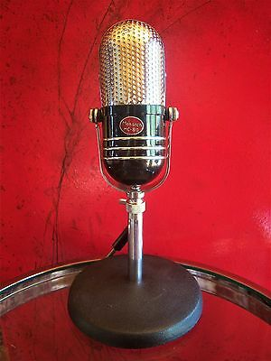 Vintage 1960's Monarch M-30 crystal microphone pill Japanese old RCA w stand