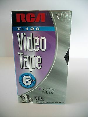 Rca Vhs T-120 Video Tape 6 Hours Standard Grade Factory Sealed Lot Of 5