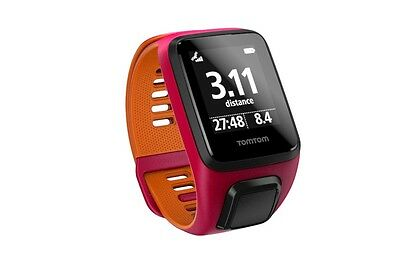 TomTom Runner 3 - NEW - Dark Pink/Orange - Small