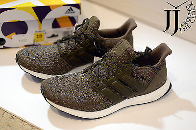 2f600d094fea NEW ADIDAS ULTRA Boost 3.0 M Trace Olive Khaki Cargo Leather Cage ...