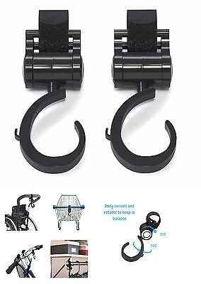 Stroller Hooks,2 Pack Adjustable Baby Carriage Hooks For Mommy When Jogging,Walk