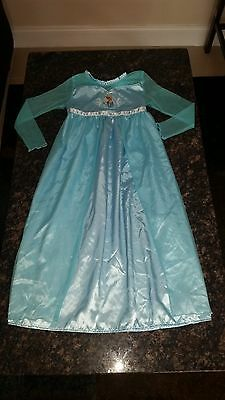 Pre-Owned Girls Disney Frozen Dress Size Medium 7/8 Good Condition