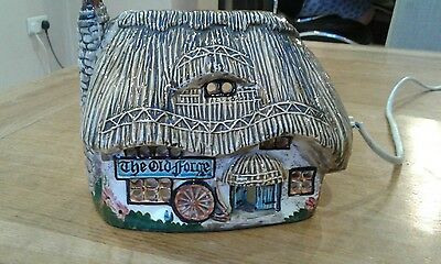Vintage Fowler Pottery Cottage lamp. The Old Forge Public House Lamp - Light