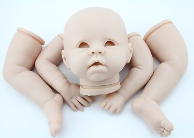 "22"" Unfinished Reborn Doll Kits Head Arms Legs Baby DIY Doll Silicone Model"