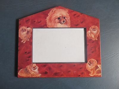 Pomeranian dog breed picture frame NEW
