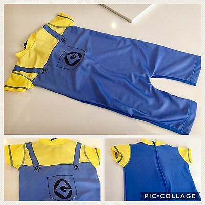 Baby Boys UV Sun Safe Protection Swimsuit 12-18 M DESPICABLE ME MINIONS Swimwear