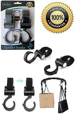 Stroller Hook, 2 Pack Set, Black, These Multi-Purpose Stroller Hooks, Are Great