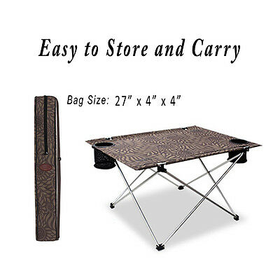 Large Camping Folding Table Ultralight Outdoor Portable Picnic Hiking Desk BBQ