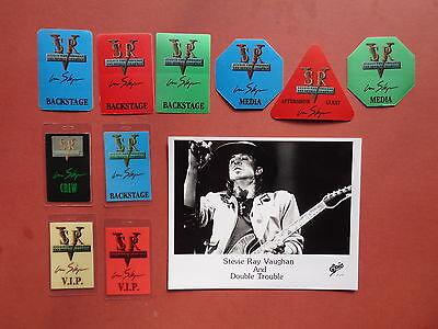 STEVIE RAY VAUGHAN promo photo,10 Backstage passes,RARE Originals,IN STEP