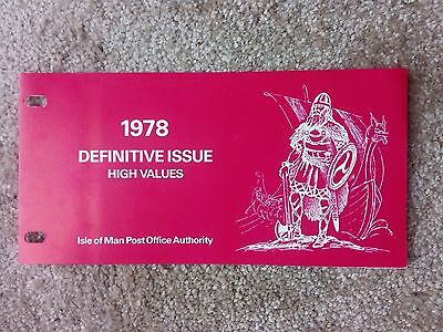 Isle Of Man  Presentation Pack -1978...definitive Issues High Value