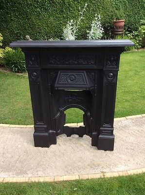 Reclaimed Cast Iron Victorian Fireplace 'the Repton'