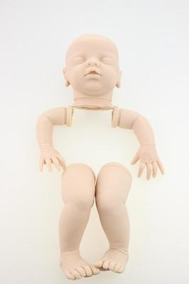 "20"" Unfinished Reborn Doll Kits Head Arms Legs Baby DIY Doll Silicone Model"