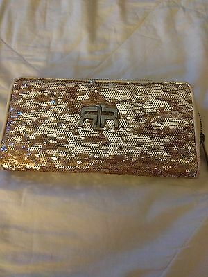 River island Rose gold purse/ wallet or clutch bag