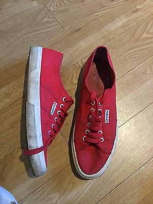 Mens Superga Red Trainers, Size 10.5