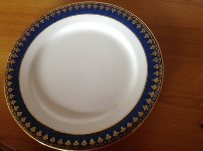 "9""'plate by George Jones & Son - crescent blue and gold pattern"