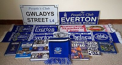 Everton FC football memorabilia bundle