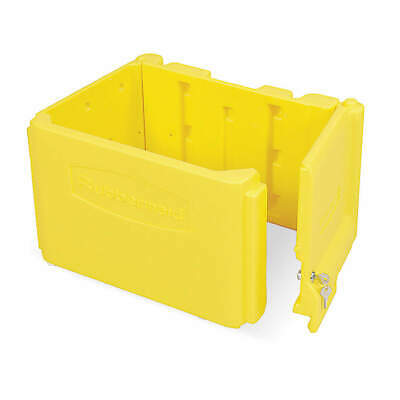 RUBBERMAID Locking Compartment,Yellow,Plastic, FG618100YEL, Yellow