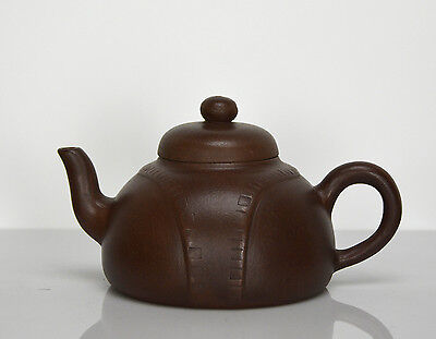 Vintage Chinese Yixing Zisha Purple Clay Teapot with Seal Mark