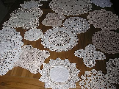 Job Lot Of 20 Vintage Crochet Doilies.for Weddings/crafts.