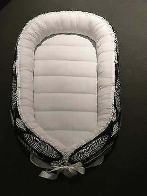 Baby Nest Made To Order White Feathers French Navy