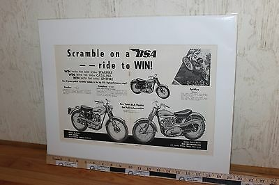 1960 BSA Starfire Catalina Spitfire 16 x 20 Matted Motorcycle Ad #6004amot10m