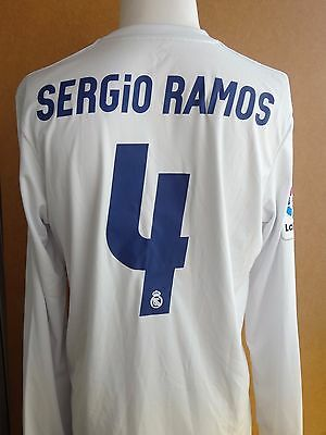 Match Issue Real Madrid Parley Sergio Ramos Shirt Maglia Trikot Jersey Maillot