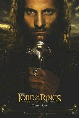 """Lord Of The Rings Aragorn  Poster  - 27"""" X 40"""" - 2003 / Brand New & Rolled"""