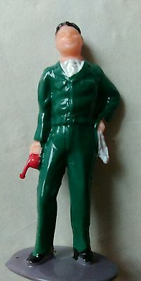 Scalextric mechanic holding rag cloth and oil can FIGURE finely painted