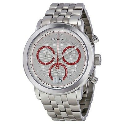 88 Rue Du Rhone Double 8 Origin Chronograph Men's Watch Stainless 87WA130036 New