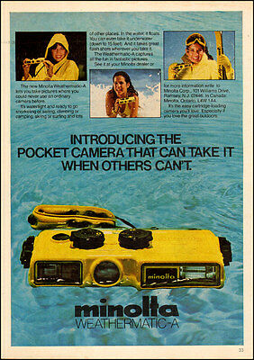 1980 vintage AD MINOLTA Weathermatic-A Weather proof , Underwater Camera 062217