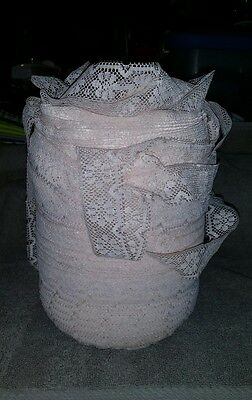Vintage Lace Roll ~1 Inch Wide Beige  Colored