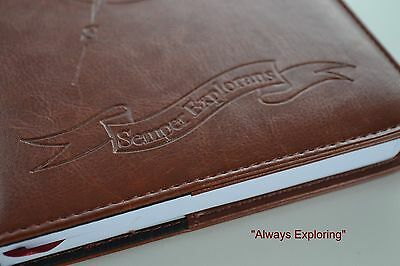 Refillable Faux Leather Personal Journal Travel Dairy Lined Writing Notebook A5
