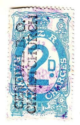 New Zealand - Railway Charges 2d Central B.O. Christchurch 1925