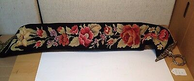 """Vintage Bell Pulls Needle Point Wool 48"""" x 6"""""""