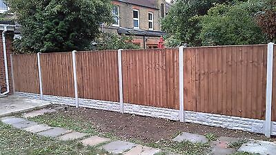FENCING Close board fence panel 15 sets 6ft x 6ft with installation fitted