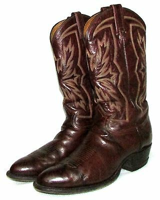 TONY LAMA Brown Leather Cowboy Western Boots Mens 11 D