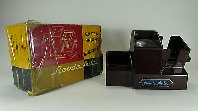 Vintage Rondo Auto 35mm Slide Viewer Picture Photo Film Lighted Antique Works