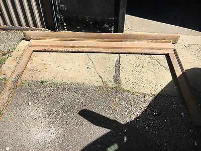 "c1830 pine fire place mantle scrapped to original surface Maine origin 103""x62"""