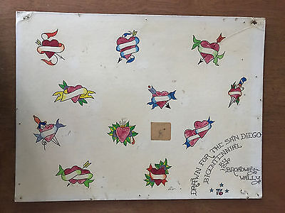 "Authentic Vintage Old School US Tattoo Flash ""Broadway"" Wally Pierson 8"