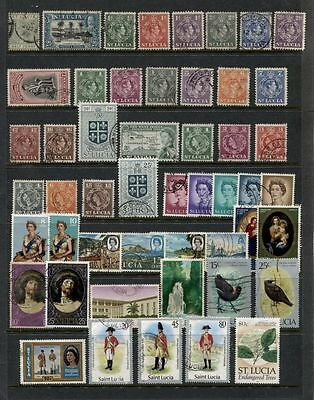 St. LUCIA **************************  USED COLLECTION OF 50 DIFFERENT