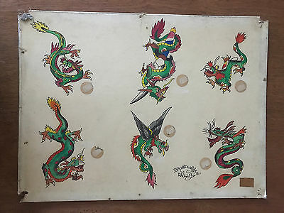 "Authentic Vintage Old School US Tattoo Flash ""Broadway"" Wally Pierson"